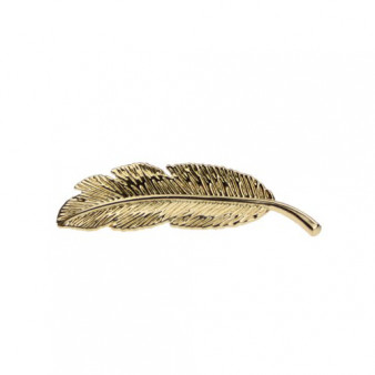 Barrette Plume Dorée - WEL.99.010